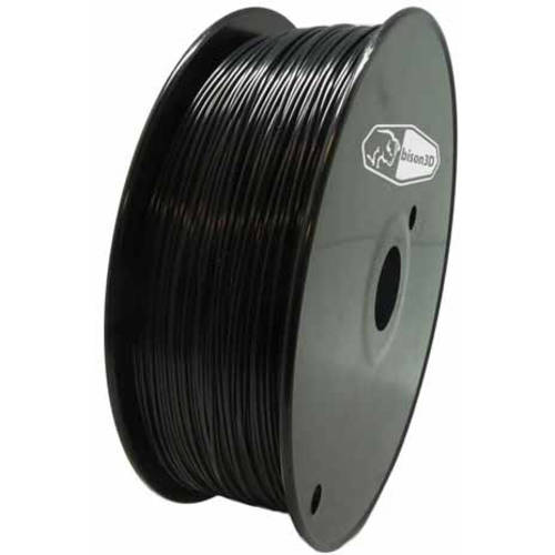 Universal Filament for 3D Printing, 1.75mm, 1kg/Roll, Black (PLA)