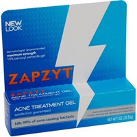 6 Pack Zapzyt Acne Treatment Gel 10% Benzoyl Peroxide Gel 1 Oz Each