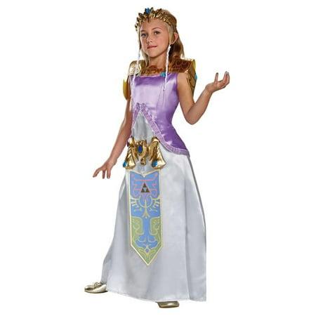Morris Costumes DG98784J Zelda Deluxe Costume, Size 12-14 - Cheap Zelda Costume