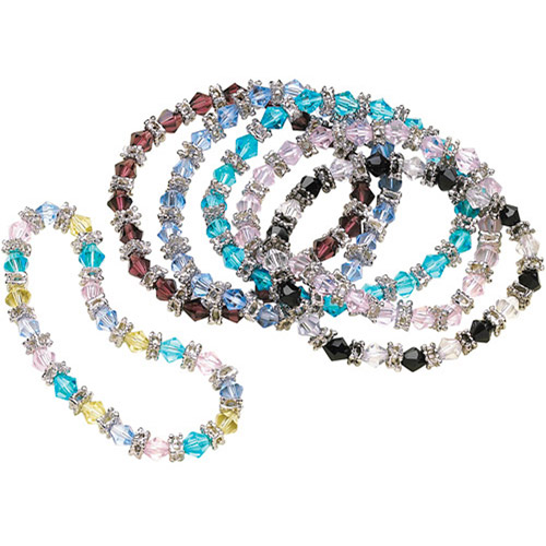 Crystal Stretch Bracelets, Set of 6