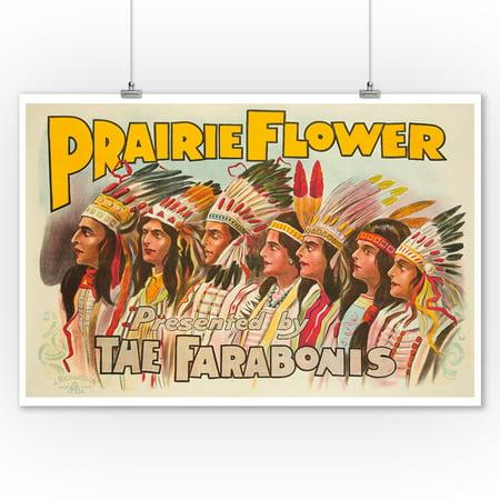 Prairie Flower Vintage Poster England c. 1910 (9x12 Art Print, Wall Decor Travel Poster)