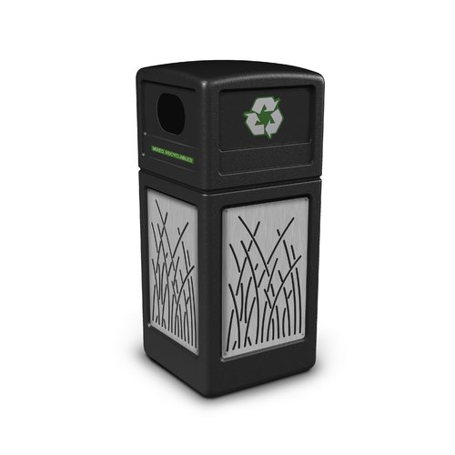 Commercial Zone Precision Series  Panels 42 Gallon Recycling Bin