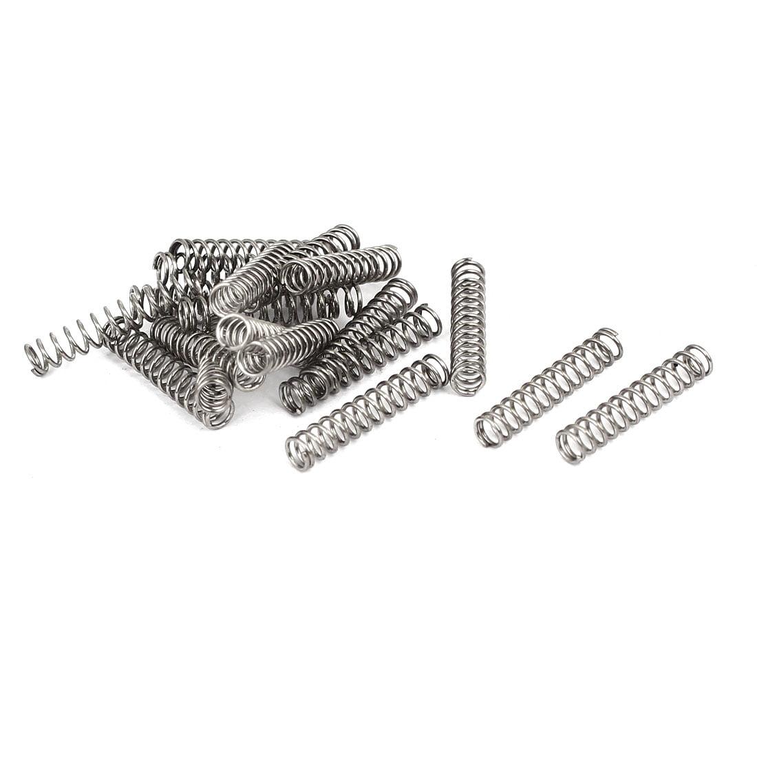 1.2mmx14mmx300mm Manganese Steel Extension Tension Springs Black 2pcs