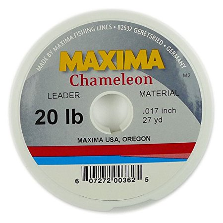 Leader Spool - 40lb, Has the unique property of changing hues to match the colour of the surroundings for invisibility in water that is cloudy or.., By Maxima Chameleon