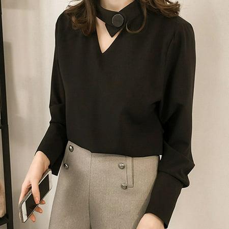 Fashion Women's Shirt Long Sleeve Loose Leisure Shirt Korean Women's Blouse Hot Sale - Leisure Suits 1970s