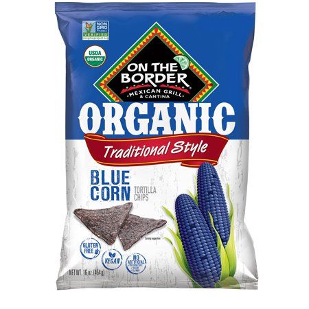 On The Border Organic Blue Corn Tortilla Chip (16 oz.) Eatin Organic Blue Corn