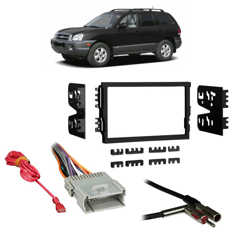 Fits Hyundai Santa Fe 03 06 W Monsoon Double Din Harness Radio Dash Kit Walmart Com Walmart Com