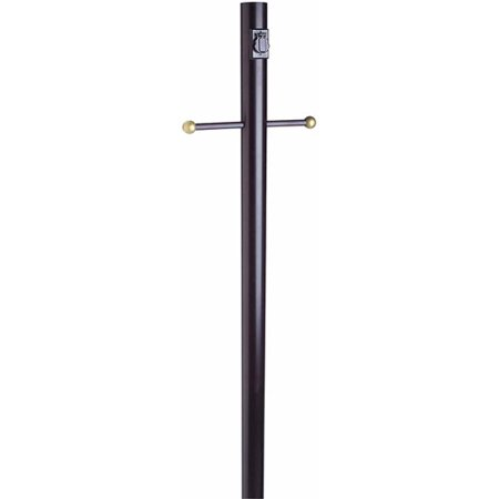 Design House 501932 Outdoor Lamp Post with Cross Arm and Electrical Outlet, 80