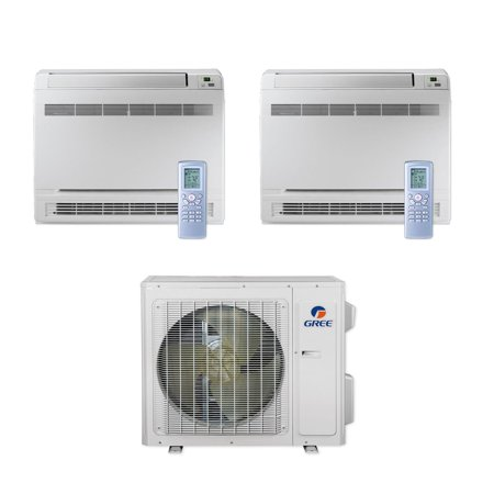 Gree MULTI24CCONS205 - 24,000 BTU Multi21+ Dual-Zone Floor Console Mini  Split Air Conditioner Heat Pump 208-230V (18-18)