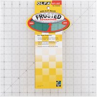 "Olfa Frosted Advantage Non-Slip Ruler, ""The Standard"""