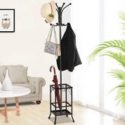 Yaheetech Metal Standing Coat Hat Rack w/Umbrella Holder Coat Tree Hanger 8 Hook Solid Base