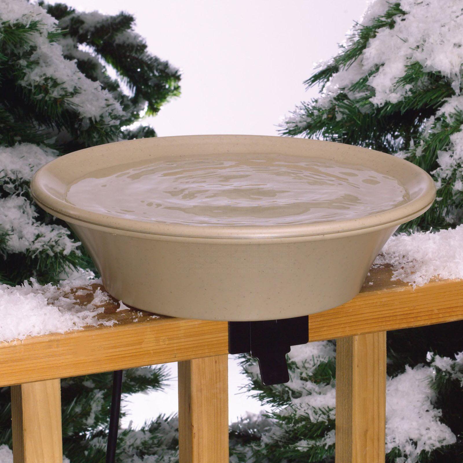 Allied Precision 14 in. Birdbath Deck Pole Heated by Gold Crest Distributing LLC