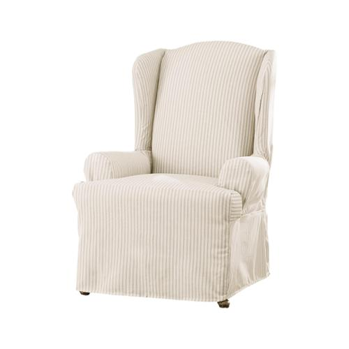 Sure Fit Ticking Stripe Wing Chair Slipcover Walmart