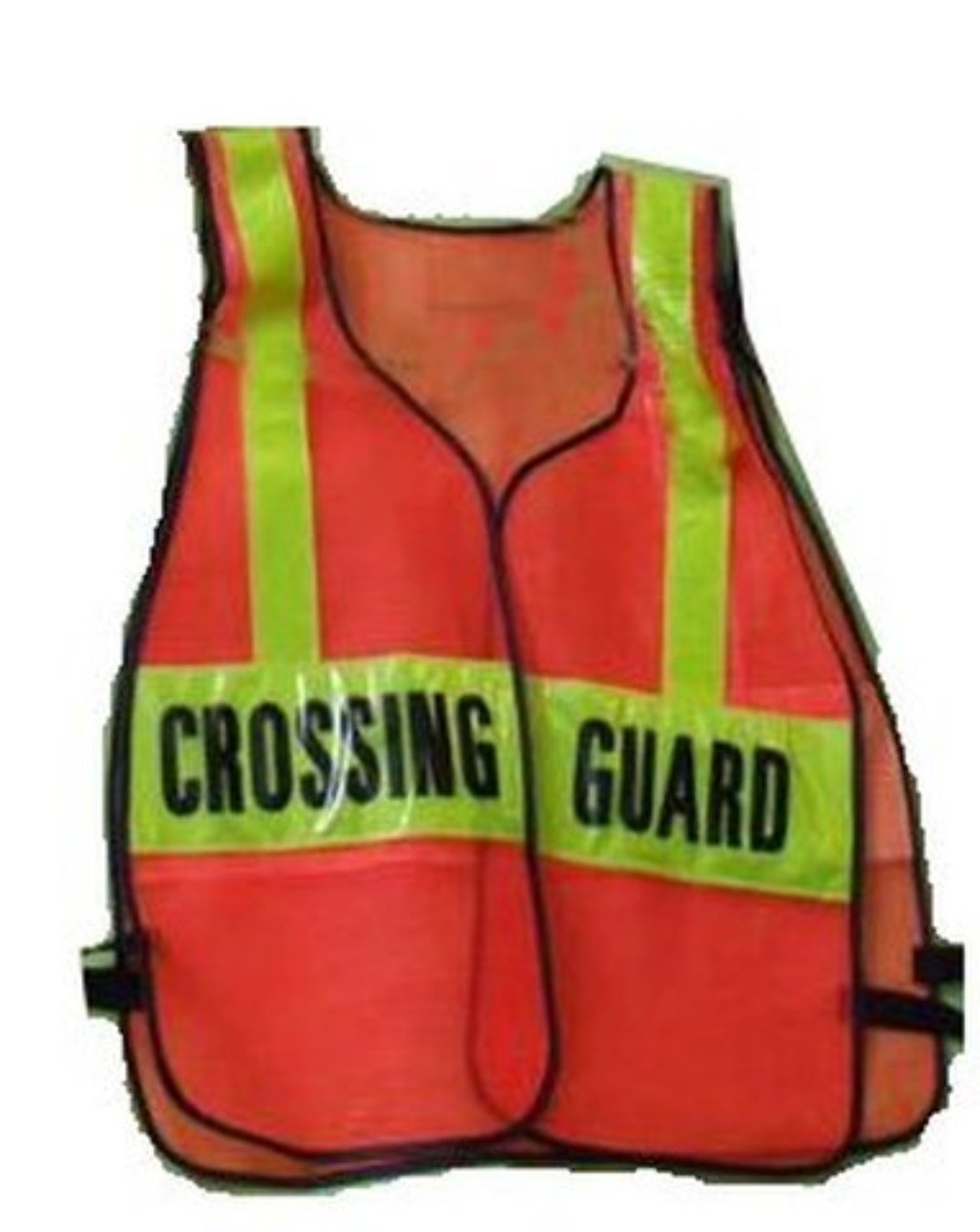 SCHOOL CROSSING GUARD Orange REFLECTIVE Traffic Safety Vest One Size Fits All, By TSV by