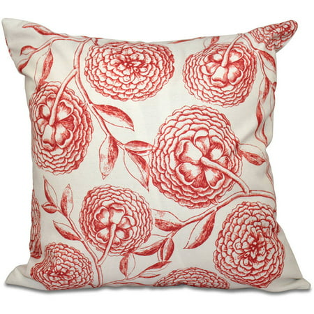 """Simply Daisy 16"""" x 16"""" Antique Flowers Floral Outdoor Pillow"""