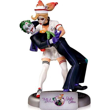 DC Comics Bombshells Harley Quinn Statue [With The Joker, 2nd Edition] - The Joker And Harley Quinn Costume