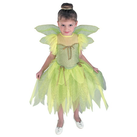 Girl's Tinkerbell Costume (Tinkerbell Costume For Toddler Girl)