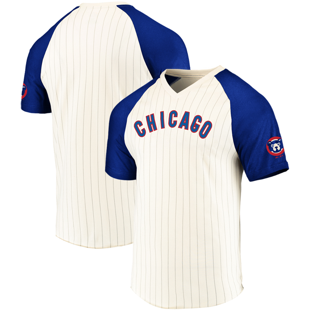 Chicago Cubs Majestic Cooperstown Season Upset Domestic T-Shirt - Cream