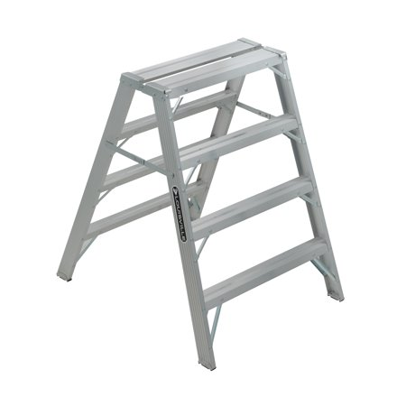 Louisville Ladder L-2032-04 4 ft. Aluminum Saw Horse, Type IA, 300 Lbs Load Capacity Ansi Standards Ladders