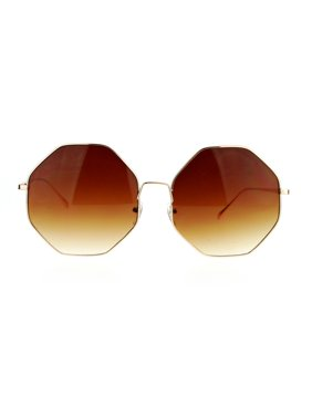 aff24252bf Product Image SA106 Womens Gradient Octagonal Groovy Sunglasses Gold Brown