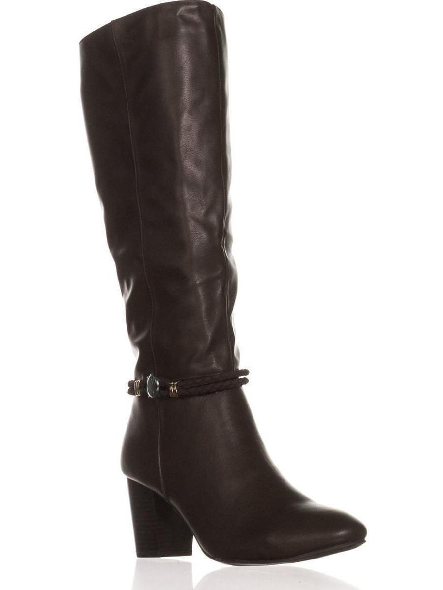 Womens KS35 Galee Mid-Calf Dress Boots, Brown