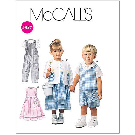 McCall's Pattern Toddlers' Rompers in 2 Lengths, Dress, Jacket and Shirt, CC (2, 3, 4)