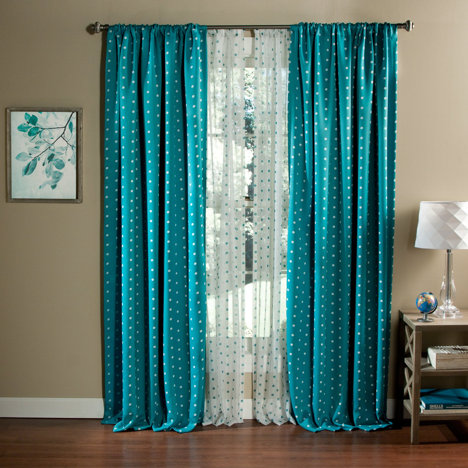Polka Dots Blackout Curtain Panel, Set Of 2   Walmart.com