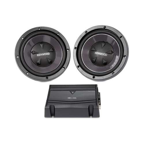 "Kenwood 10"" Bass Party Pack - 35Hz-1000kHz, 4-7/8"" Mounting Depth  - P-W1010"