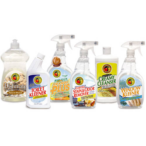 Earth Friendly Products Kitchen and Bathroom Cleaning Supplies Variety Pack, 6 ct