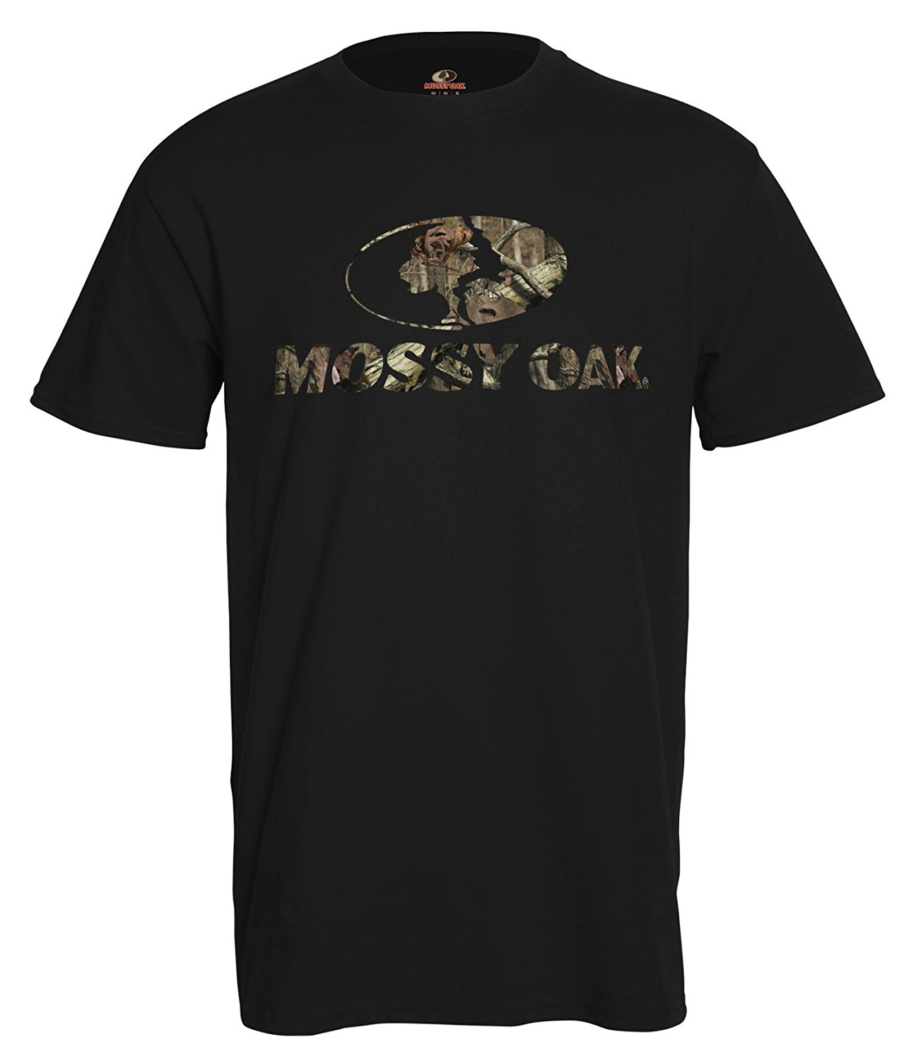 Mossy Oak Camo Hunting T-Shirts (Medium, Mossy Oak Black Front Logo) by 755899395743
