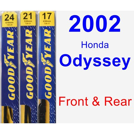 2002 Honda Odyssey Wiper Blade Set/Kit (Front & Rear) (3 Blades) - Premium ()