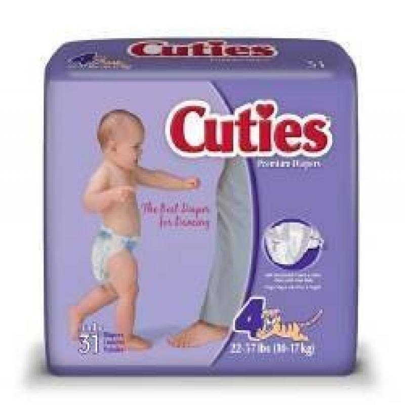 Diapers - Cuties - Size 4 - 62 ct. Compare to Pampers #FQCR4001