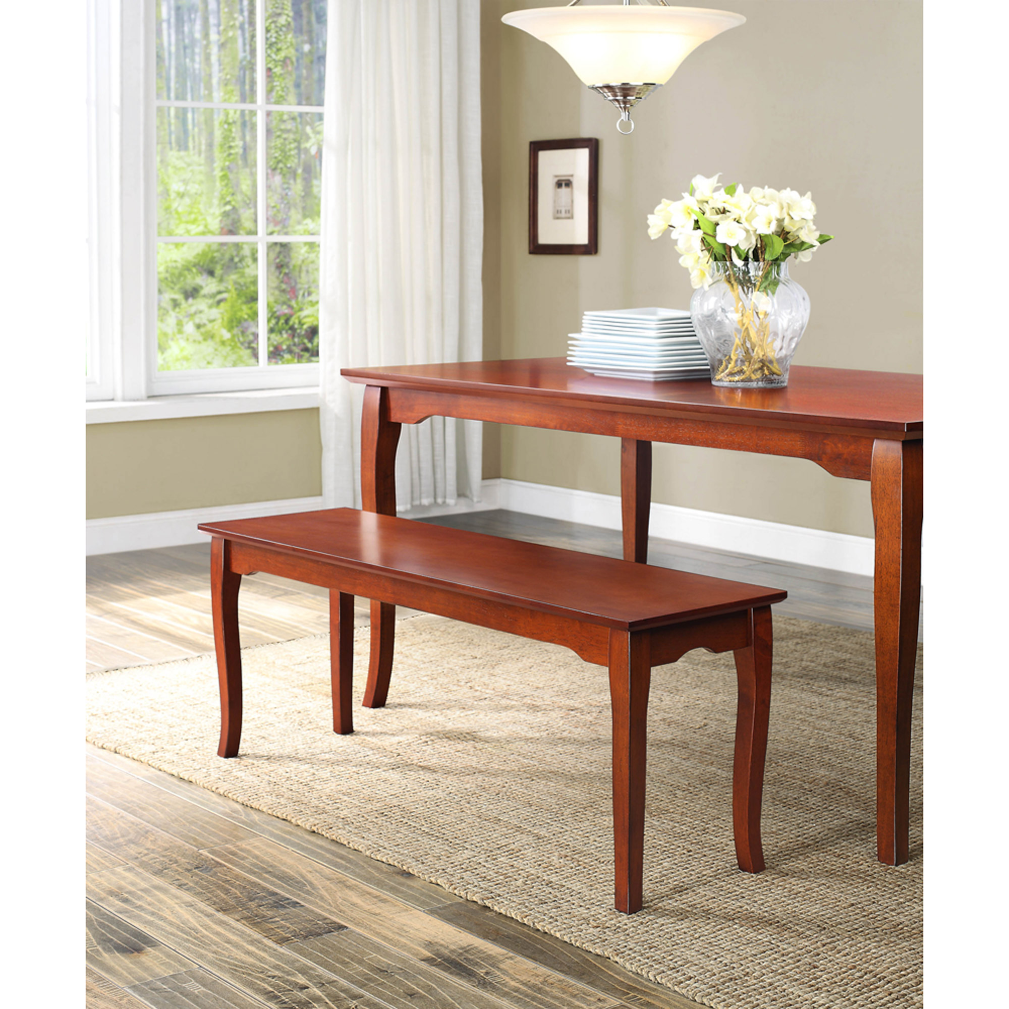 Better Homes And Gardens Ashwood Road Dining Bench, Brown Cherry    Walmart.com
