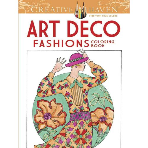 Art Deco Fashions Adult Coloring Book by