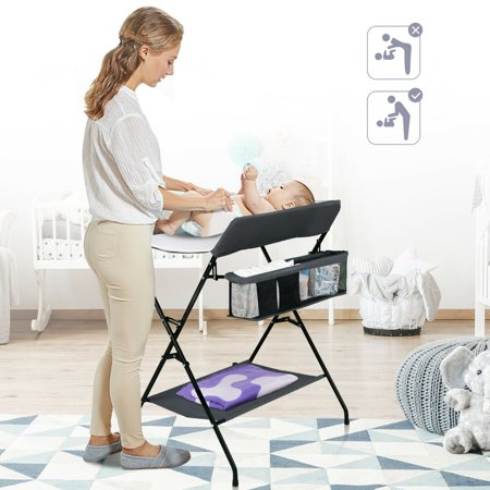 Costway Infant Baby Changing Table Folding Diaper Station Nursery