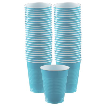 - Caribbean Blue Plastic Cups Big Party Pack, 16 Oz., 50 Ct.