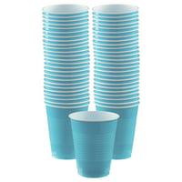 Caribbean Blue Plastic Cups Big Party Pack, 16 Oz., 50 Ct.