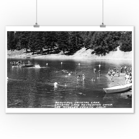 Los Angeles, California - Crystal Lake Recreation Camp Photograph (9x12 Art Print, Wall Decor Travel - Express Crystal Lake