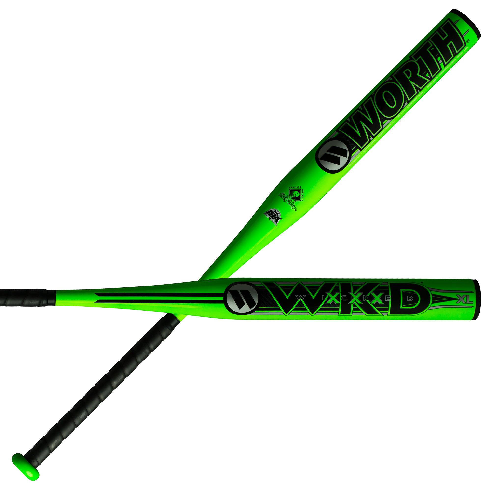 Worth Wicked XL 13.5 Inch 1-Piece WWICKD Senior Slowpitch Softball Bat