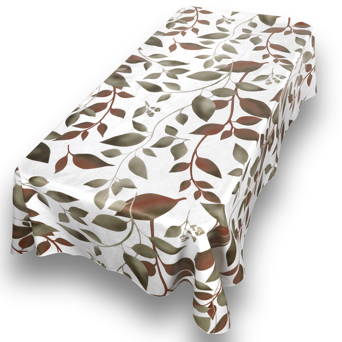 "Vinyl Tablecloth 52/"" x 52 /"" PVC Free 100/% PEVA Front 100/% Polyester BackT-31"