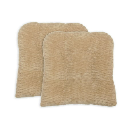 Perfect Performance Delano Set of 2 Memory Foam Chair Cushions Light Taupe