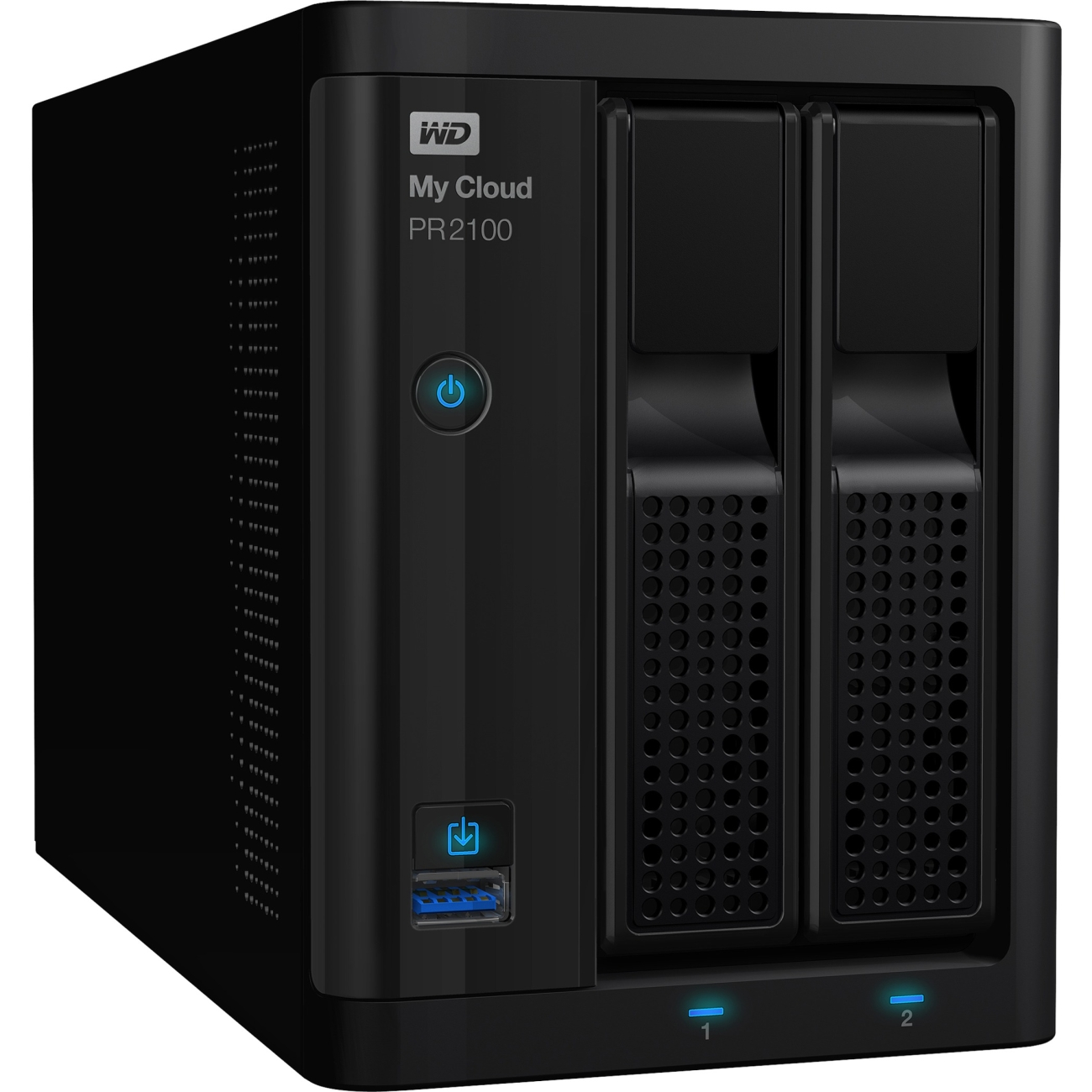 Wd 8tb My Cloud Pr2100 Pro Series Media Server With Transcoding, Nas - Network Attached Storage - Intel Pentium N3710 Quad-core [4 Core] 1.60 Ghz - 2 X Total Bays - 8 Tb Hdd - 4 (wdbbcl0080jbk-nesn)