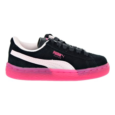 Puma Suede LFS Iced Little Kids (PS) Shoe Black/Pink/Beetroot Purple 363246-03 (10.5 M US)