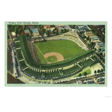 Wrigley Field Replica (Aerial View of Wrigley Field No. 2 - Chicago, IL Print Wall Art By Lantern Press )