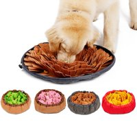 ZEDWELL Pet Felt Cloth Leak Food Anti Choking Bowl Mat Dogs Cats Snuffle Bowl Mat Costing Energy Slowing Feeding Intelligence Mat