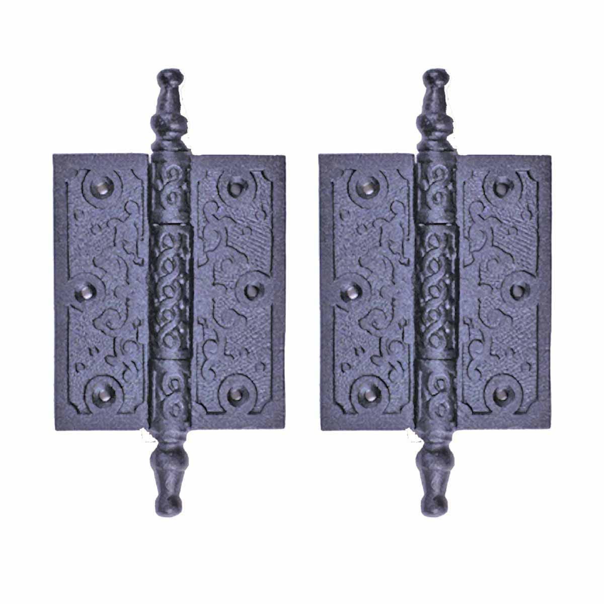"""2 Victorian Door Butt Hinge Steeple Tip Wrought Iron 3"""" W   Renovator's Supply"""