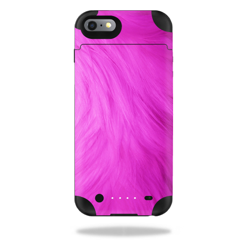 MightySkins Protective Vinyl Skin Decal for Mophie Juice Pack iPhone 6 Plus cover wrap sticker skins Pink Fur