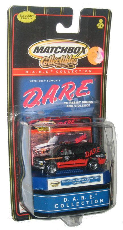 D.A.R.E. Matchbox Pima County Sheriff Tucson Arizona Chevy Surburban Police Toy Car by Matchbox