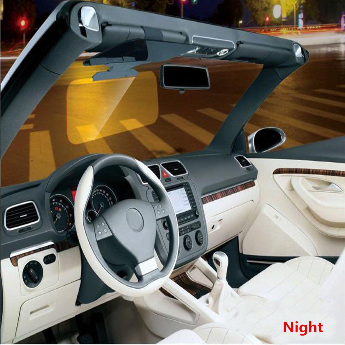 HD Anti-Glare Auto Car Flip Down Shield Sun Visor Day Night-Vision Block View UV