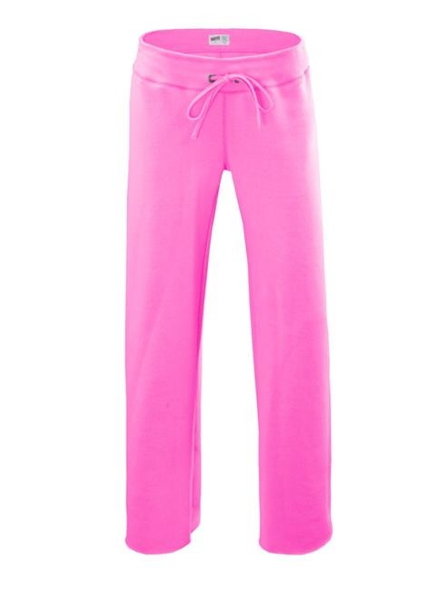 Soffe 7540G630MED Girl Rugby Pant Cotton & Poly, Pink - Medium